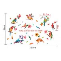 Интерьерная наклейка на стену Тропические Птицы SK9203