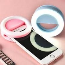 Selfie Ring Светодиодное кольцо для селфи RK-14 голубое