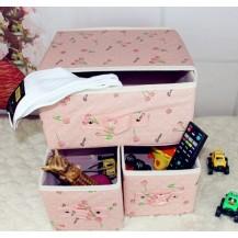 Органайзер для белья и одежды Комодик 3 ящика Вишенки