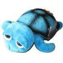 Проектор звездного неба, ночник Музыкальная Черепаха Тони, синяя