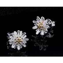 Серьги Tiffany маленькие гвоздики  покрытие серебром 925 (TF-E093)