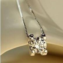 Кулон Tiffany с цирконом покрытие серебром 925 (TF-A024)