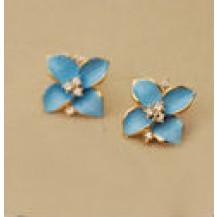 Серьги Лепестки голубые tb1052