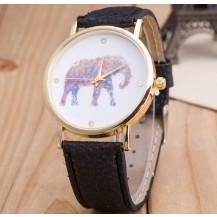 Часы Женева Geneva Слон черный ремешок