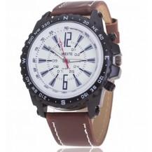 Часы мужские копия Weide коричневый ремешок