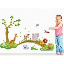Детская Интерьерная наклейка Зоопарк (ABC1041)