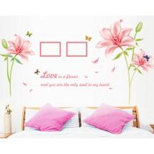 Интерьерная наклейка на стену Цветы Лилии (MJ8027A)