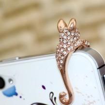 Защита от пыли Пантера на телефон (золотистая)