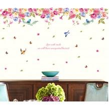 Интерьерная наклейка на стену Цветы в ряд  XL8202