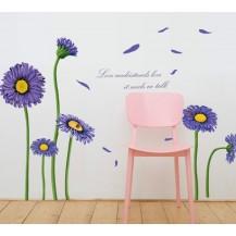 Интерьерная наклейка на стену Цветы MJ8007B