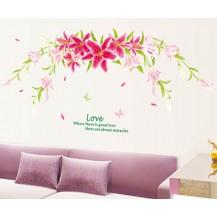 Интерьерная наклейка на стену Лилии AY9066