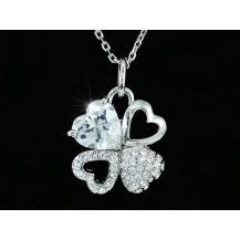 Кулон Heart 4 Carat Pendant Necklace use Swarovski Crystal SN163