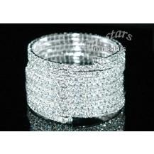 Браслет 10 Row Crystal Rhinestone Bridal Wedding Bracelet / Armlet SA017
