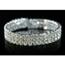 Браслет 3 Row Bridal Fashion Rhinestone Cuff Bangle Bracelet SSB918