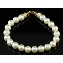 Браслет Bridal Cream Shell Pearl Bracelet use Swarovski Crystal SB020