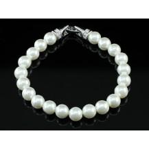 Браслет Bridal White Shell Pearl Bracelet use Swarovski Crystal SB018