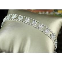 Браслет Bridal Wedding Silver Flower Crystal Bracelet SSB052