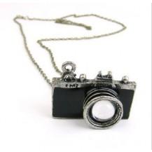 ретро кулон с цепочкой Фотоаппарат (черный)