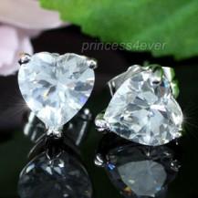 Серьги 2 Carat Heart Cubic Zirconia Stud Earrings SE258