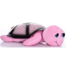 Проектор звездного неба, ночник Музыкальная Черепаха Тони, розовая. Бесплатная доставка по Украине.