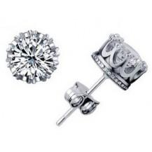 Серьги Tiffany Корона покрытие серебром 925 (TF-E002)