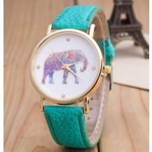 Часы Женева Geneva Слон Мята