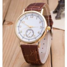 Часы Женева Geneva Питон коричневый ремешок