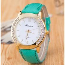 Часы Женева Geneva Полукруг мятный ремешок