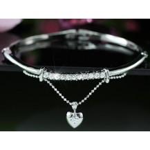 Браслет Dangle Heart Bangle use Swarovski Crystal SB094