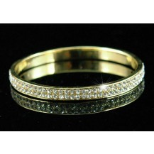 Браслет Bridal Quality Austrian Crystal Gold Bangle Bracelet B027