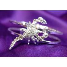 Браслет Scorpion Clear Austrian Crystal Cuff Bangle Bracelet SSB020