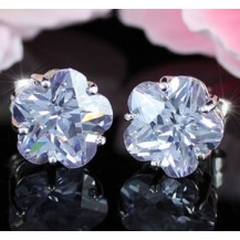 Серьги 3 Carat Flower Blue Sapphire Stud Earrings SE242