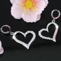 Серьги Bridal / Fashion Heart Cubic Zirconias Earrings SE236