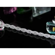 Браслет Stylish Silver Tone Rope Bracelet SB131