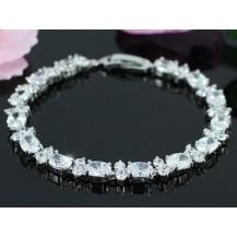 Браслет 14 Carat Oval Cut CZ Simulated Diamond Bracelet SB117