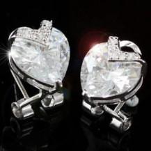 Серьги 4 Carat Heart Simulated Diamond Bling Earrings SE166