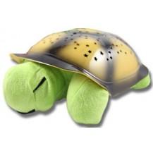 Проектор звездного неба, ночник Музыкальная Черепаха (зеленая)