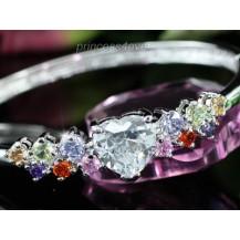 Браслет 8 Carats Simulated Multi-Color Topaz Diamond Heart Bangle SB079