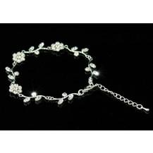 Браслет Bridal Fashion Flowers Clear Rhinestone Bracelet SSB011