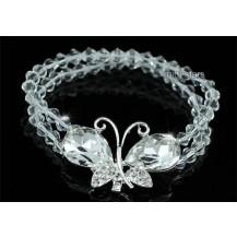 Браслет Bridal Handmade Clear Crystal Butterfly Bracelet SSB063