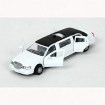 Автомодель - ЛИМУЗИН (белый, свет, звук)