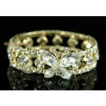 Браслет Bridal Fashion Butterfly Clear Crystal Gold Bracelet SSB023