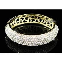 Браслет Wedding Gold Bangle Bracelet use Swarovski Crystal SSB043