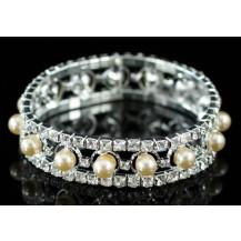 Браслет Bridal Wedding Peach Cream Pearl Bracelet SSB044
