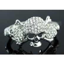 Браслет Skull Bling Crystal Bangle Bracelet SSB054