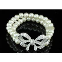 Браслет Bridal Cream Faux Pearl Ribbon Bracelet SSB059