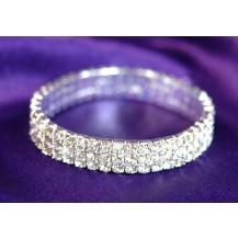 Браслет 3 Row Bridal Fashion Crystal Rhinestone Bracelet SSB903