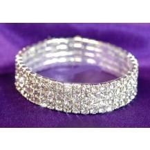 Браслет 4 Row Bridal Wedding Crystal Rhinestone Bangle Bracelet SSB904