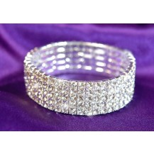 Браслет 5 Row Bridal Wedding Crystal Rhinestone Bangle Bracelet SSB905