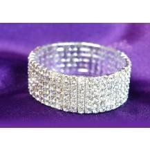 Браслет 6 Row Bridal Wedding Crystal Rhinestone Bangle Bracelet SSB906